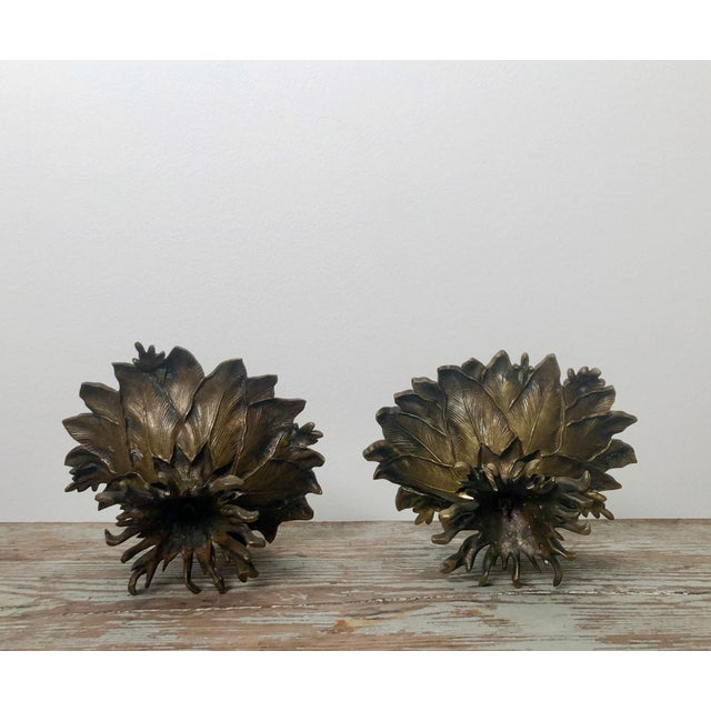 French 19th Century Napoleon III Bronze and Brass Tazzas - a Pair For Sale - Image 3 of 6