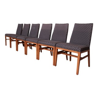 Edward Wormley for Dunbar Mid-Century Modern Dining Chairs, Set of Six For Sale
