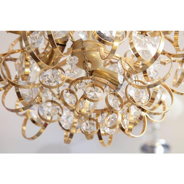 Glamorous Petite Vintage Palwa Chandelier For Sale In New York - Image 6 of 7