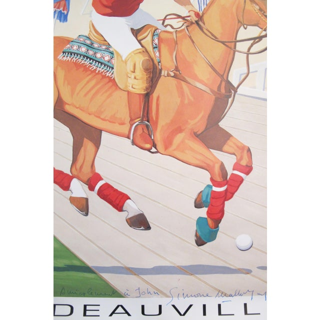 1993 French Horse Poster, Polo Deauville For Sale - Image 4 of 5