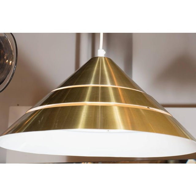 Hans-Agne Jakobsson Mid-Century Brass Cone Ceiling Pendant by Hans-Agne Jakobsson For Sale - Image 4 of 8
