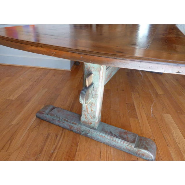 Late 19th Century 19th Century Scandinavian Trestle Table For Sale - Image 5 of 8
