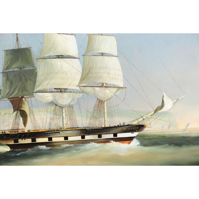 English Sail Boat - 19th Century Oil Painting - Image 6 of 12