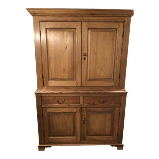 Antique English Pine Hutch For Sale