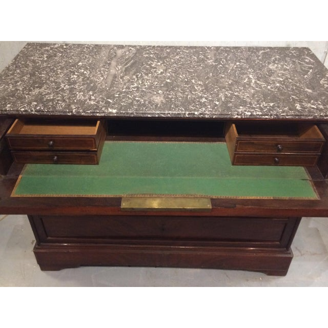 Louis Philippe Three Drawer Desk Commode For Sale - Image 6 of 11