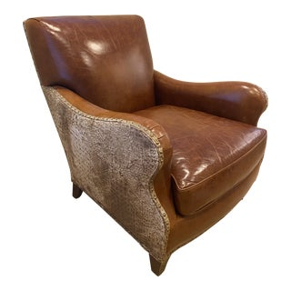 Hancock & Moore Top Grain 1946 Princeton Leather Club Chair For Sale