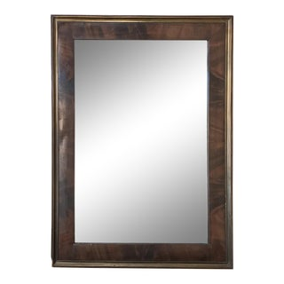 19th Century French Louis Philippe Mahogany Mirror For Sale