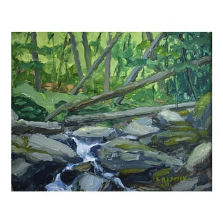 """Mountain Brook, Looking Upstream"" Painting"