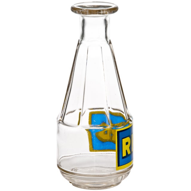 Vintage French glass bottle or carafe advertising Ricard liqueur.