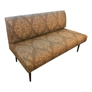 Green Patterned Settee For Sale