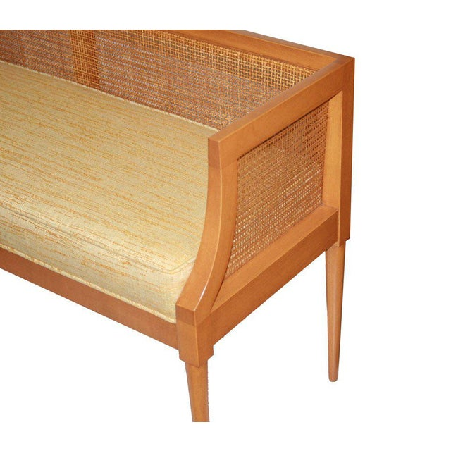 Customizable Viktor Caned Maple Bench For Sale In New York - Image 6 of 9