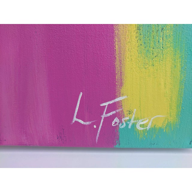 Paint Large Scale Original Abstract Painting Signed For Sale - Image 7 of 11
