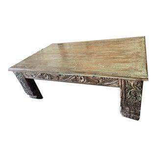 Vintage Rustic Boho Chai Coffee Table For Sale