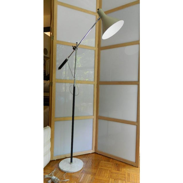 1960s Vintage Italian Floor Lamp With Marble Base For Sale - Image 11 of 12