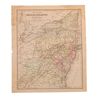 Antique Middle Atlantic States Map