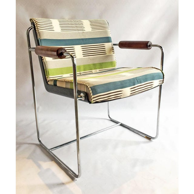 1960's Chrome Accent Chair - Image 6 of 6