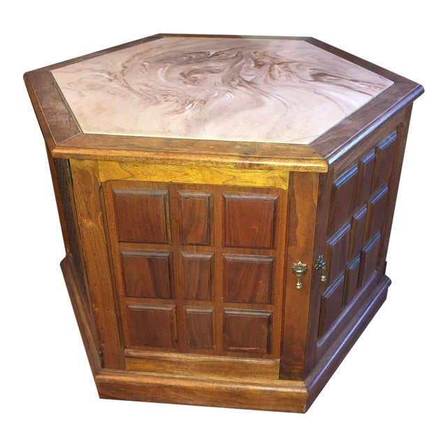 1970's Octagon Stereo Console For Sale