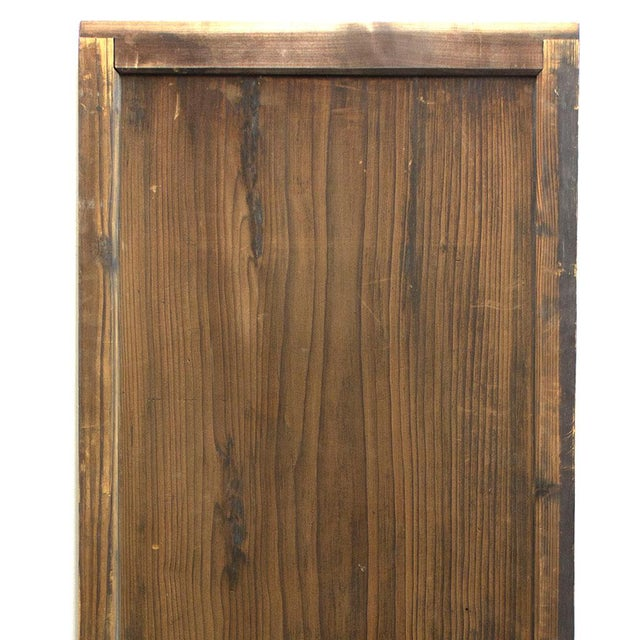 Japanese Japanese Itado Cedar Wooden Door For Sale - Image 3 of 9