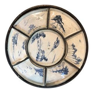 Antique Asian Dim Sum Tray For Sale