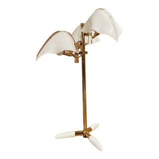 1960s Franco Luce Murano Table Lamp For Sale