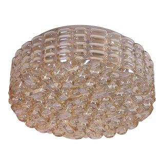 Large Glass Flush Mount or Sconce for Glashütte Limburg For Sale