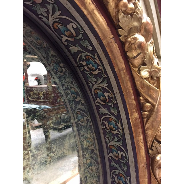 Wood Italian Painted Over Mantel Mirror, 19th Century For Sale - Image 7 of 10