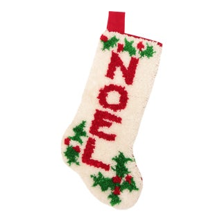 Latch Hook NOEL Christmas Stocking For Sale