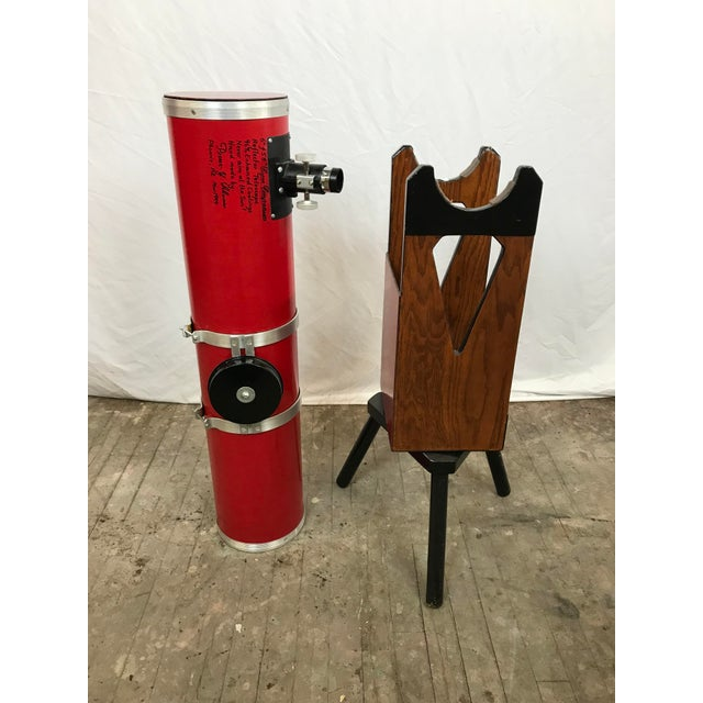 Dobsonian Type Red Telescope Functional Sculpture For Sale - Image 4 of 10