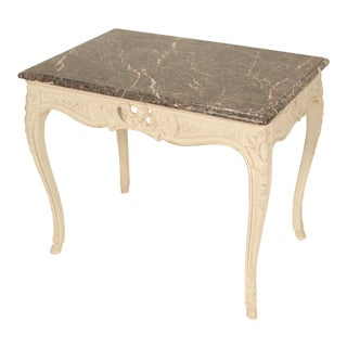 1980s Louis XV Style Painted Occasional Table For Sale