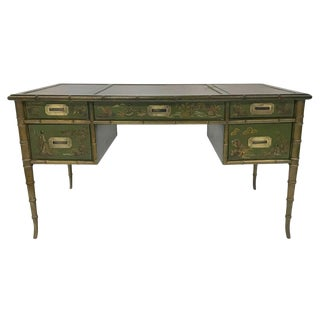 1980s Hand Painted Chinoiserie Desk