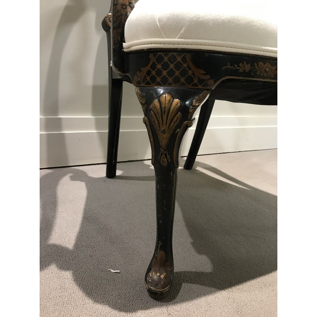 Antique Painted Chinoiserie Arm Chair For Sale - Image 9 of 13
