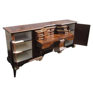 Vintage Solid Wood Italian Desk Secretary Credenza Sale For Sale