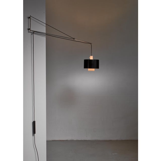 Metal Gaetano Sciolari Wall Lamp for Stilnovo, Italy, 1950s For Sale - Image 7 of 8