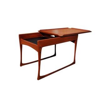 1960s Danish Modern Vladimir Kagan Style Teak Coffee Table
