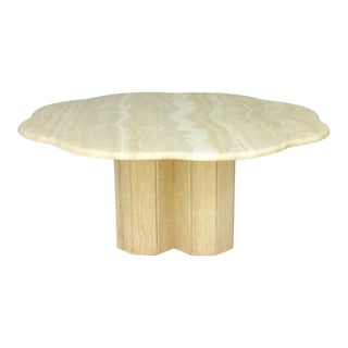Italian Travertine Coffee Table 1970s For Sale