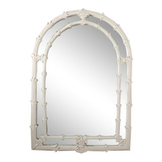 Lacquered Palm Frond Arched Wall Mirror after Serge Roche Gampel Stoll For Sale