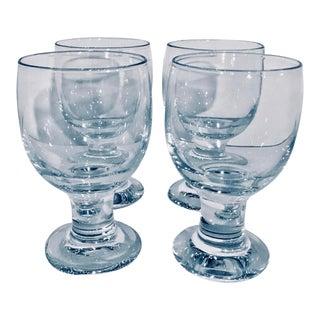 Vintage Signed Crystal Water Goblets - Set of 4 For Sale