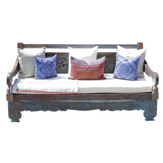 Turquoise Opium Lounge Daybed For Sale