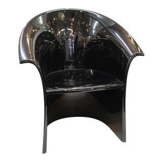 Massimo and Lella Vignelli for Heller Modern Black Resin Armchair For Sale