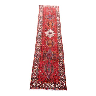 "1950s Vintage Karajeh Runner-3'3"" X 14'8"" For Sale"