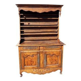 Louis XV Provincial Oak and Pewter Buffet Cupboard For Sale