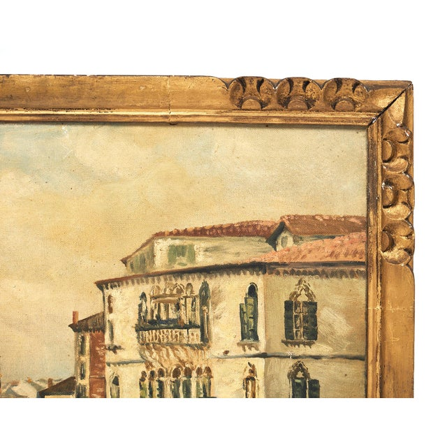 Antique Oil on Canvas of Venice For Sale - Image 4 of 10