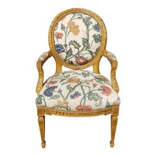 Antiqued Alder Wood Dining Chair For Sale