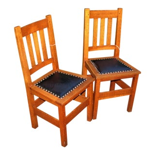 Antique Stickley Brothers Side Chairs- a Pair For Sale