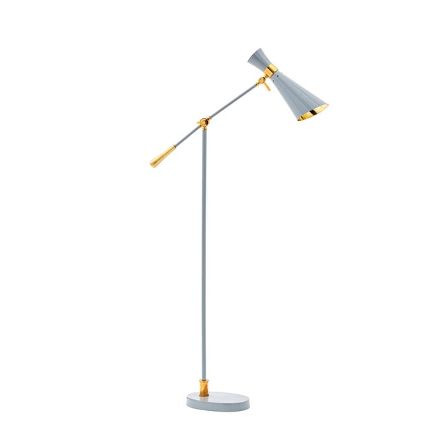 Gold Bungalow 5 Wasp Floor Lamp For Sale - Image 8 of 12
