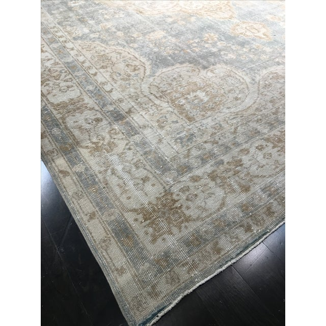 "Distressed Turkish Oushak Rug - 9'5"" X 12'8"" - Image 7 of 9"