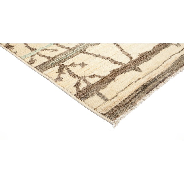"""New Moroccan Hand-Knotted Rug - 4' 9"""" X 8' 1"""" - Image 2 of 3"""