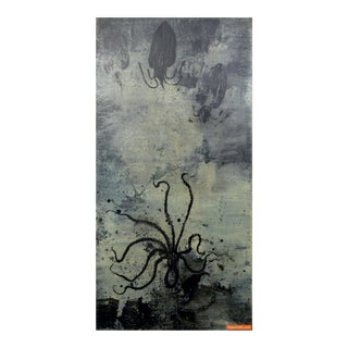 """Large """"Octopus"""" Painting by Clement Rosenthal For Sale"""