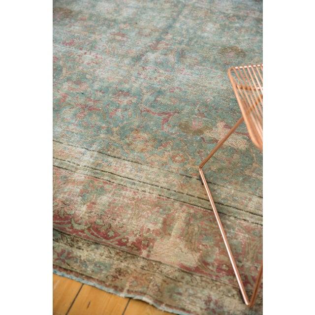 "Vintage Distressed Tabriz Square Carpet - 11'10"" X 13'11"" For Sale In New York - Image 6 of 13"