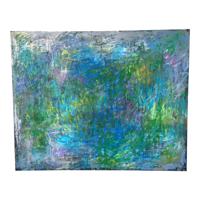 "Jenny Vorwaller ""Fields"" Abstract Painting - Image 1 of 4"